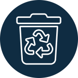 Icon of a trashcan
